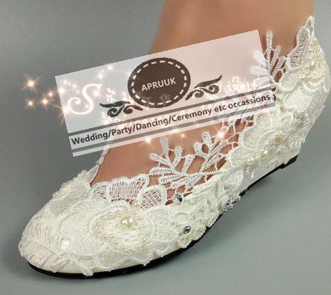 Pompes Coincée Mariage Chaussures Main Party Talons Cm De Taille Moyen 43 Perles Mariée À La Danse Heel 5cm Hs299 Princesse Wedges Plus 5 35 Dentelle 1fZncA