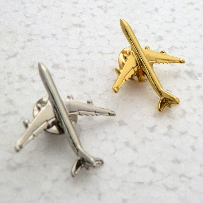 A321 & A340  Boing777 A330  Gold&Silver Airbus Aviation Badge 2.8*3.1cm, Authentic  Pilot Badges  airplane suits plane gilded