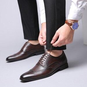 Image 5 - 2019 rozmiar 38 48 męskie buty wizytowe biuro społeczne projektant ślubne luksusowe eleganckie męskie buty sukienka # SY R7878
