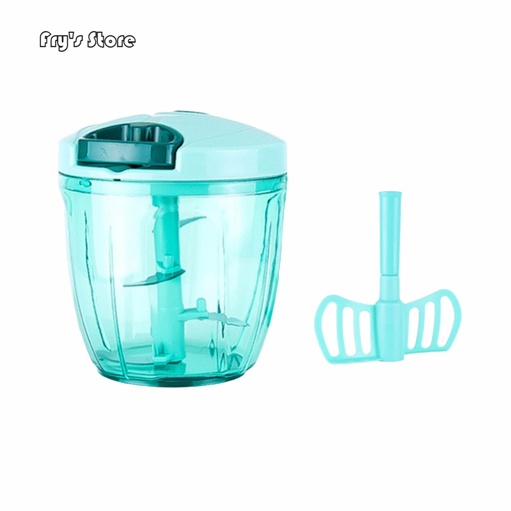Fry's Store Manual Food Processor Chopper Blender Slicer Safe Free Durable Kitchen Household for Dropshipping