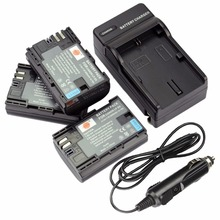 DSTE 3 шт. LP-E6 LP-E6N Батарея + путешествия Зарядное устройство для Canon EOS 5DS R 5D Mark II III 6D 7D 80D Камера