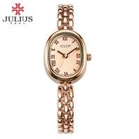 New Julius Lady Woman Wrist Watch Fashion Hours Dress Chain Bracelet Elegant Lovely Business Girl Valentine Birthday Gift JA 861