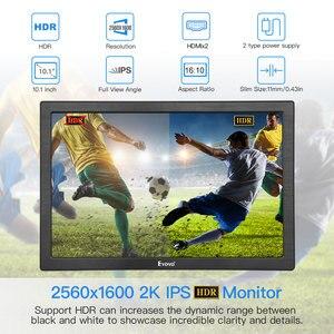 "Image 2 - 10 ""인치 휴대용 모니터 2560x1600 미니 hdmi lcd 디스플레이 ps4 xbox360 led moniteur 컴퓨터 scherm 노트북 라즈베리 모니터"