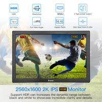 """עבור מחשב נייד 10"""" אינץ צג נייד 2560x1600 תצוגת LCD Mini HDMI עבור צג מחשב נייד פטל PS4 Xbox360 LED Moniteur מחשב scherm (2)"""