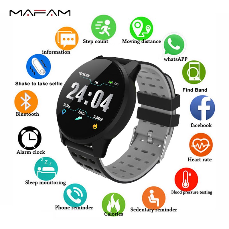 MAFAM Smart Watch Men Smartwatch Running Heart Rate Blood Pressure Oxygen Monitor Fitness Tracker Pedometer reloj inteligente