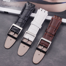 Mens leather strap accessories 17mm19mm for swatch ladies casual waterproof sports