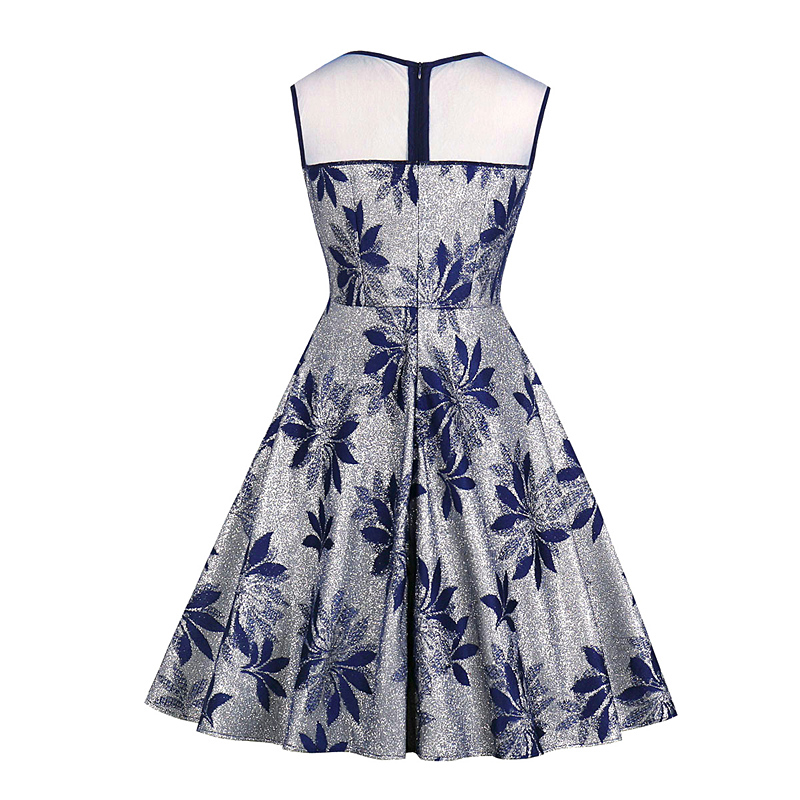 2019 Spring New Fashion Women 39 s Temperament Slim Round Neck Loose Sleeveless Large Size Casual Embroidery Print Sexy Dress in Dresses from Women 39 s Clothing