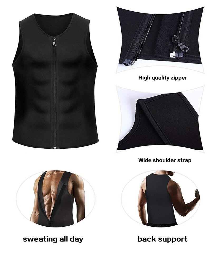 Sport Running Vest Slimming Reduction Shape Bodysuits Man T-Shirt Fitness Gym Sauna Muscular Development Weight Loss Fat Burning (11)