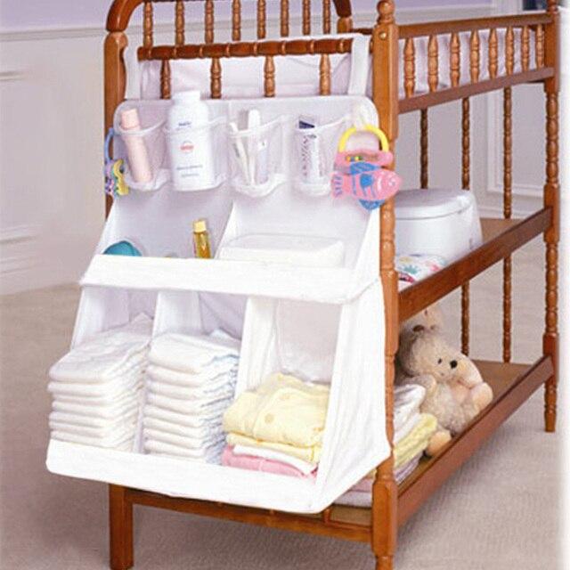 Organizador de pañales a prueba de agua para bebé recién nacido, bolsa de almacenamiento para cama de noche, bolsa de cuna para bebé