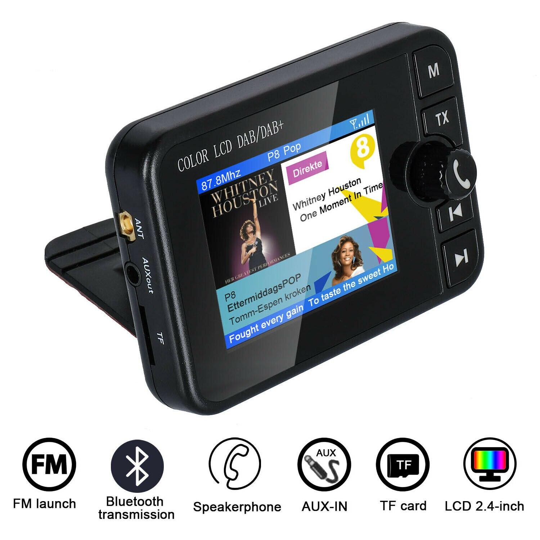 Récepteur Radio DAB écran colorisé prise en charge de la musique Bluetooth réponse d'appel pour voiture WIF66
