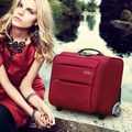 Pequeno mini curso da bagagem do trole caixas arrastar bagagem comercial 16 polegadas, preto/vermelho, roxo, azul embarque sacos sobre rodas