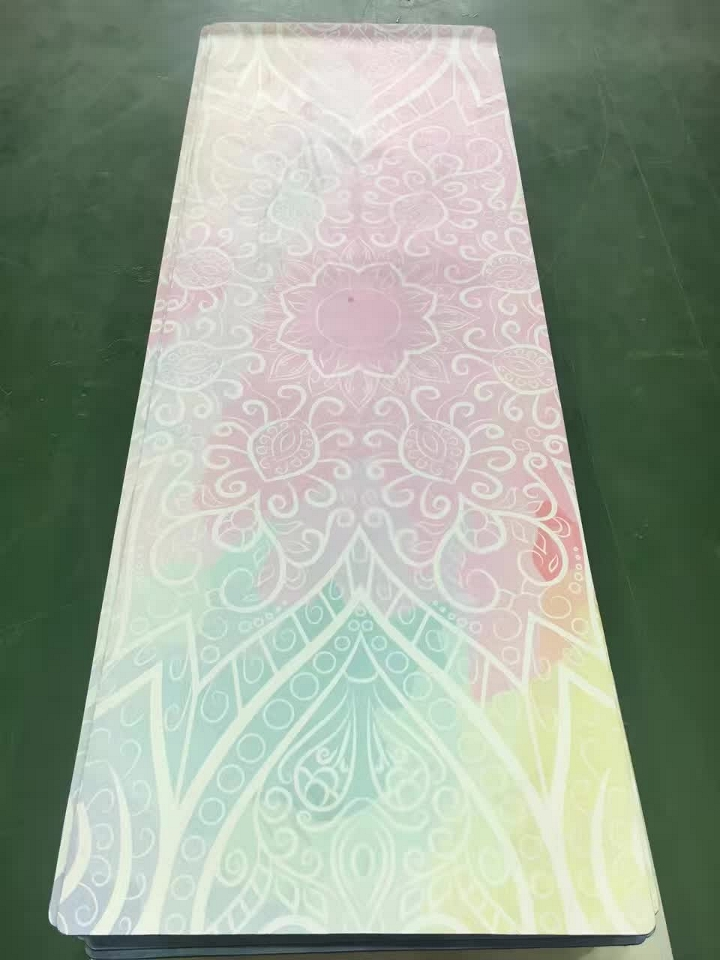 Color flowers pattern suede skin Natural Rubber eco-friendly slip-resistant Hot Yoga best yoga mat Fitness rubber mat eco friendly dyeing of silk with natural dye
