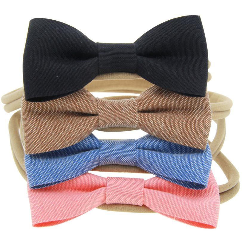 Beliebte Marke 4 Pcs Baby Kinder Mädchen Bowknot Elastische Haarband Stirnband Headwear Bandanas Hair Haar-accessoire Headwrap Für Frauen Mädchen