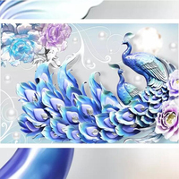 Wallpapers YOUMAN Custom 3D Photo Wall Mural Chinese Peacock Wallpaper Luxury Blue Wall Papers Home Decor Textured Wallpaper Art