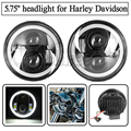"""Motocycle Accesorios 5.75 """"Angel Eyes faros con DRL para Harley Davidson harley Sportster XL XG XR VRSCD DynaDaymaker"""