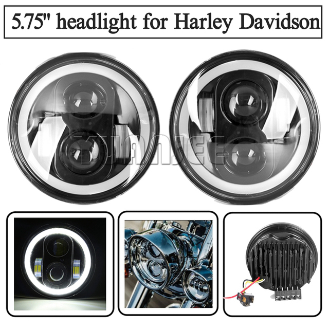 """Motocycle Accessories 5.75""""  harley headlight with DRL Angel Eyes for Harley Davidson Sportsters XL XG XR VRSCD DynaDaymaker"""