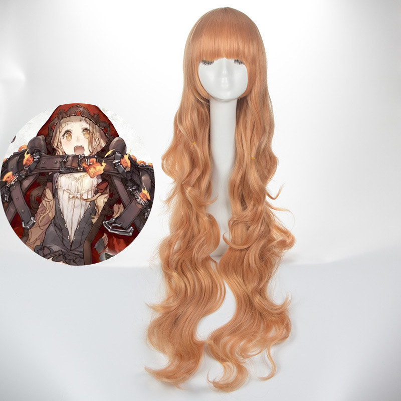 Cosplay SINoALICE Sino Alice high temperature Costume Cosplay Japanese Game wig Little Red Riding hood long brown curly