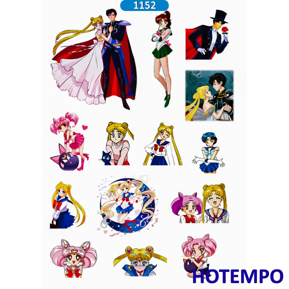 Apparel & Merchandise Lychee Life 75pcs Japanese Anime Sailor Moon Stickers Kawaii Cartoon Waterproof Decals Diy Scrapbooking Album Cards Decoration