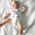 2017 Nueva moda ropa de bebé Recién Nacido bebé niño niña Mamelucos de manga corta carta Mono Infant Toddler ropa roupas de