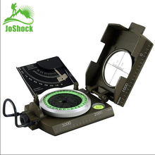 JOSHOCK Mulitifunctional Compass Army Metal Prismatic Sighting High Accuracy Waterproof Compass Outdoor Hiking Camping Climbing цена