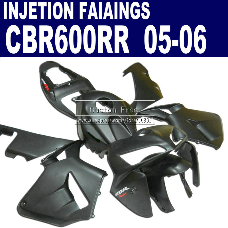 Injection bodywork fairings kit for Honda 2005 2006 matte black CBR 600 RR fairing CBR 600RR CBR600RR 05 06 road  body parts