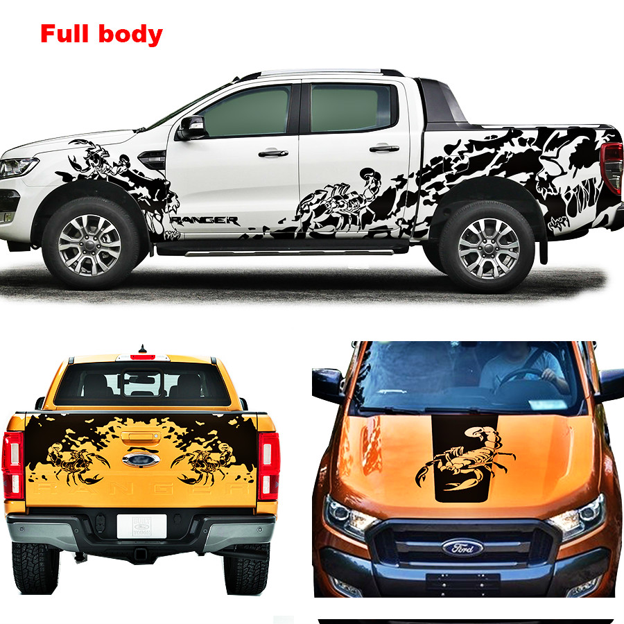 car sticker car accessories Stealing Tomb theme stickers auto products for Ford ranger or wildtrack2012 2017