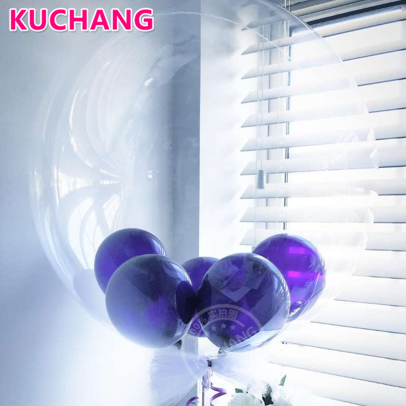 10pcs 10/18 /24/36inch No Wrinkle Bobo Transparent PVC Clear Bubble Balloons Birthday Party Wedding Decor Baby Shower Supplies