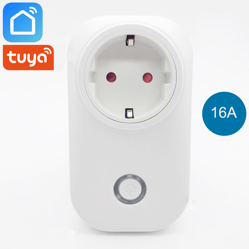 Tuya Smart Life Wifi Plug Smart Socket EU Korea Outlet 16A Power Monitor Energy Saver Works with Alexa Google Home Mini IFTTT in Smart Power Socket Plug from Consumer Electronics