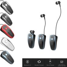 Q7 Convenient Portable Bluetooth Earphone Wireless Business Voice Report Retractable Wire Stereo Headset In-Ear