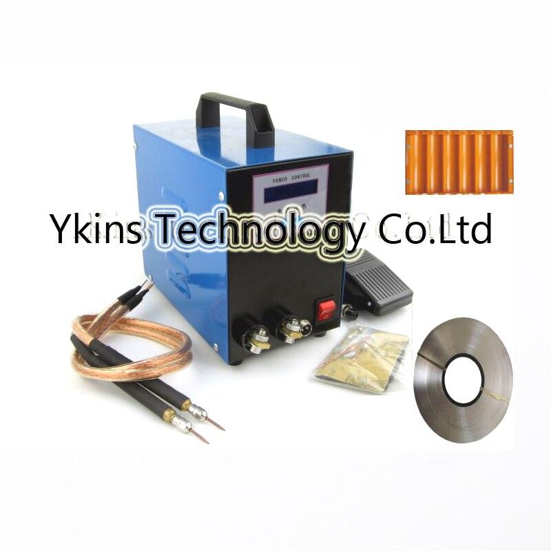 220V LCD display 18650 battery spot welder machine Pedal control Pen type Handheld welding machine+1kg nikel+battery case