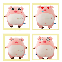 Pink Pig Expression Pig Pillow Plush Toy Soft Down Cotton Cute Pig Pillow Girl Birthday Gift 2019 Pig Year Preferred Plush Toy стоимость