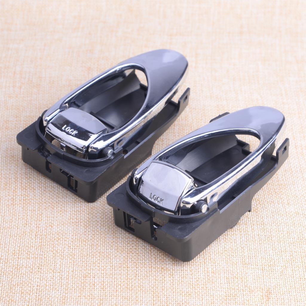 DWCX 2pcs Car Inside Left & Right Door Pull Handle Tool Fit For Daewoo Leganza 1997 1998 1999 2000 2001 2002