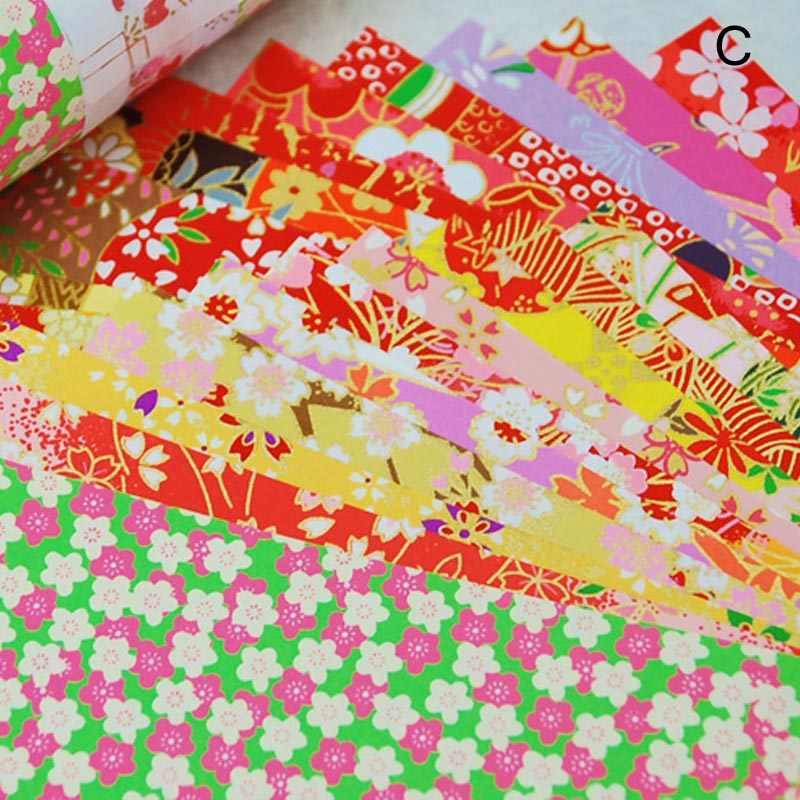 20 ชิ้น/แพ็คญี่ปุ่นสไตล์เส้นดอกไม้กระดาษตกแต่งสิ่งแวดล้อม Materia Diy เด็ก Origami กระดาษประดับ