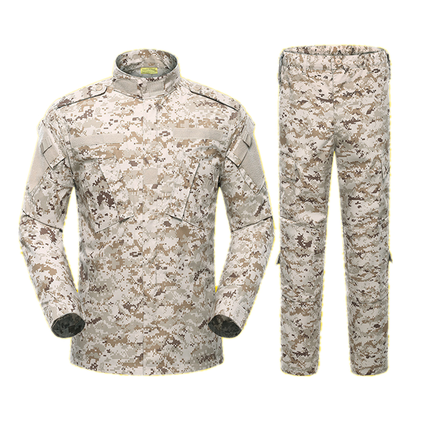 Army Outdoors Military Uniform 5Color Camouflage Tactical Men Clothes Special Forces Combat Shirt Soldier Training Clothes Set