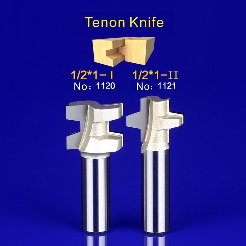 2Pcs Tongue & Groove Router Bit Set 1/2 Inch Shank Wood Milling Cutter door knife 1120-1121 2pcs tongue