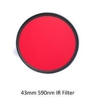 IR Filtre için 72mm 590nm R59 Kızılötesi Optik Sınıf Filtre Kamera Lens