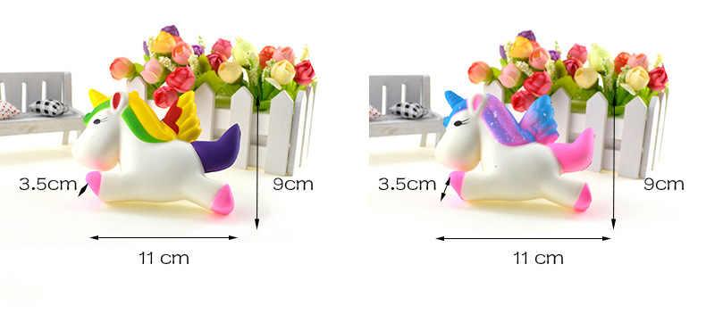 Мягкое медленно поднимающееся милое Единорог мягкое мягкие игрушки Сжимаемый милый мягкий шнурок для ключей сдавливаемый торт
