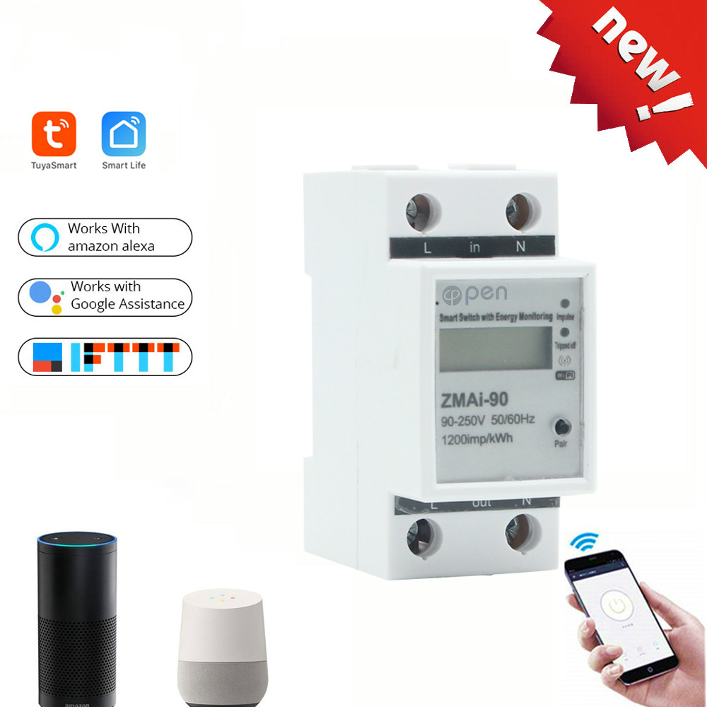 WIFI  Remote Control Smart Switch With Energy Monitoring For Smart Home