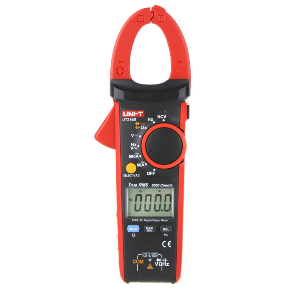 UNI-T UT216B LCD Auto Range w/ NCV V.F.C. & Frequency Tester Multimetro High Sensitivity 600A True RMS Digital Clamp Meters mastech ms8260f 4000 counts auto range megohmmeter dmm frequency capacitor w ncv