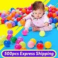 500 PCS Colorido Suave Bola Pit Bola de Plástico Bola de Brinquedo Engraçado Do Bebê nadar Piscina Bola de Plástico Brinquedo Do Banho Do Bebê Nadar Piscina Acessórios PX40