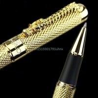 Better Noblest Jinhao 1200 Dragon Clip Roller Ball Pen Complete Golden