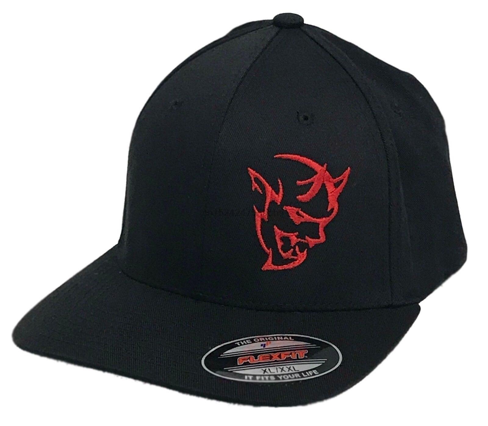 1eedfd9c53144 New Sticker Devil Hat Fits Flexfit Bend Bill Mopar Hemi Dodge Print Hat