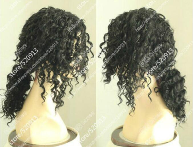 Jewelry Wig Michael Jackson/Black Screws Black Hair , Short Hair Pigtail Wig Free Shipping
