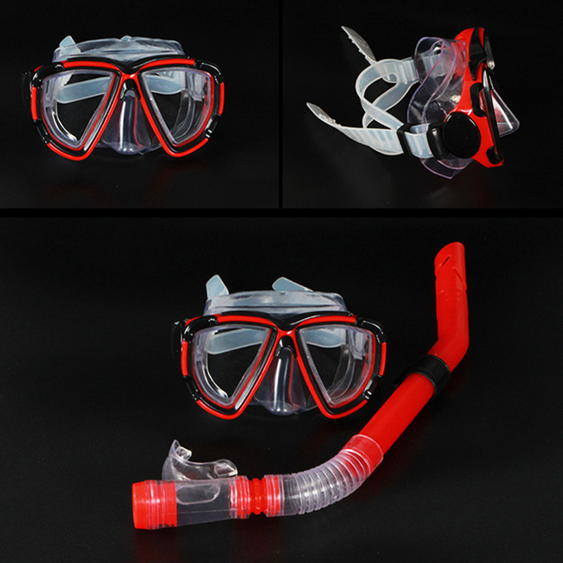 New Professional Diving Goggles Men and women Swim Snorkel Adult Scuba Monofin Tube Snorkeling Swimming Glasses Diving Mask image