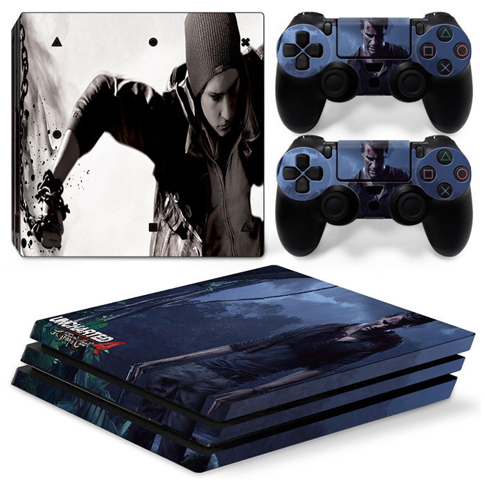 for PS4 Pro for Playstation 4 PRO Console Skin Set Vinyl Decal Sticker 2 Controllers #TN-P4Pro-0855