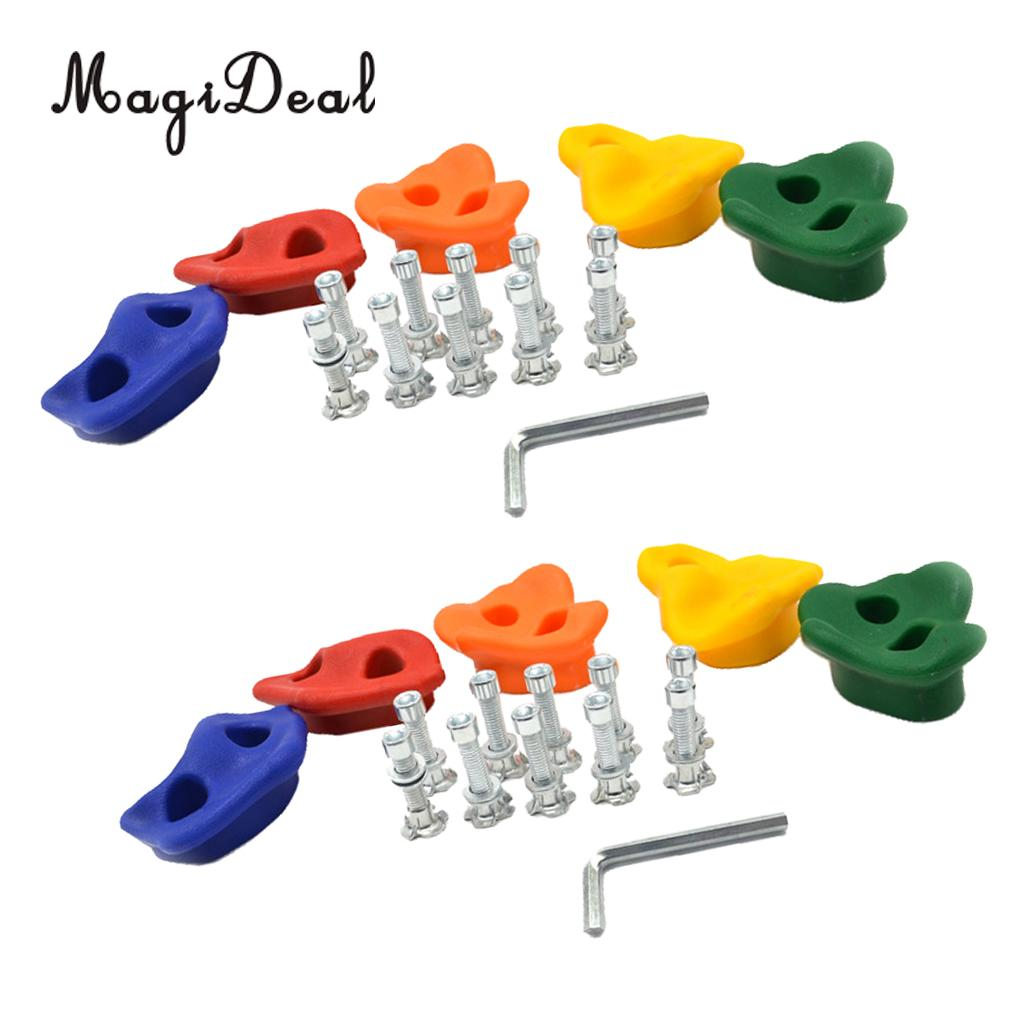 10 Pcs Rock Climbing Wall Crab Stones Hands Feet Hold with Screws Kits Indoor & Outdoor Fitness 50 pcs rock