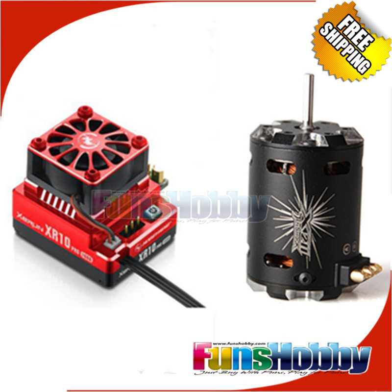 Tenshock 4 Pole Sensored Motor X211 and Hobbywing XR10 Pro 160A RC Brushless ESC Electric Speed Controller For 1/10 Buggy Car. skilhunt ds16 edc flashlight cree xp l led 500 lumens aa 14500 portable outdoor camping led light rechargeable torch lanterne