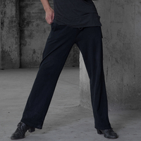 Men'S Latin Dance Pants Adult Bandage Wide Leg Pants Dancing Trousers Modern Ballroom Cha Cha Dance Practice Clothes DWY1502