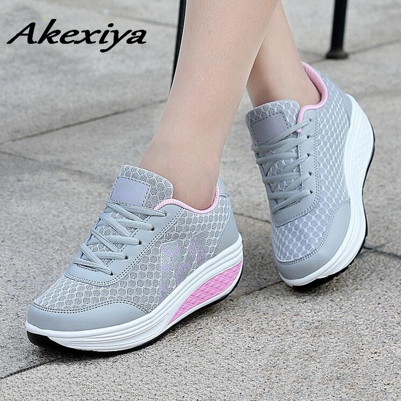 Women Sneakers 2019 Net Breathable Increase In Height Women's Sports Shoes Zapatillas Mujer Soft Womens Running Shoes For Sport