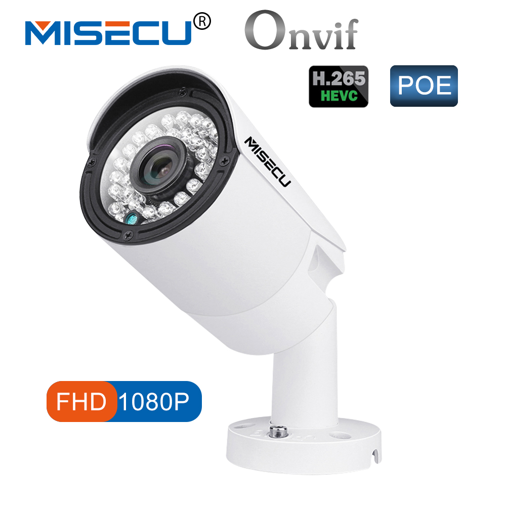 MISECU 1080 p POE IP Kamera HD Nachtsicht Wasserdichte IP66 Outdoor P2P ONVIF 2,0 Bewegungserkennung Xmeye 1.0MP 2.0MP IP Kamera